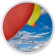 Balloon Launch Round Beach Towel