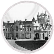 Balmoral Castle  Round Beach Towel