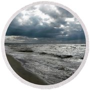 Baltic Sea 2017 Round Beach Towel