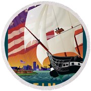 Baltimore - By The Dawns Early Light Round Beach Towel