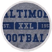 Baltimore Colts Retro Shirt Round Beach Towel