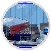 Baltimore Harbor Round Beach Towel