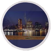 Baltimore Reflections Round Beach Towel
