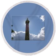 Baltimore's Washington Monument Round Beach Towel