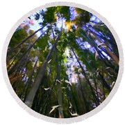 Bamboo Dreams #4 Round Beach Towel