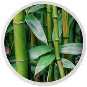 Bamboo Green Round Beach Towel
