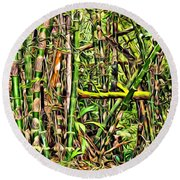 Bamboo View Round Beach Towel