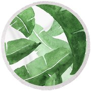 Banana Leaves  3 Round Beach Towel