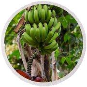 Bananas In Africa Round Beach Towel