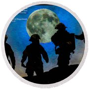 Band Of Brothers - Oil Round Beach Towel