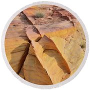 Band Of Gold In Valley Of Fire Round Beach Towel