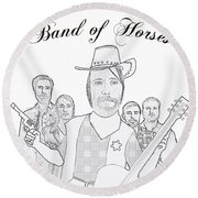 Band Of Horses Round Beach Towel