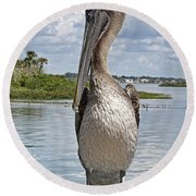 Banded Beauty Round Beach Towel