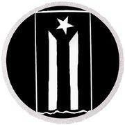Bandera Puerto Rico En Resistencia Round Beach Towel
