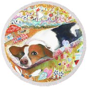 Bandit Round Beach Towel