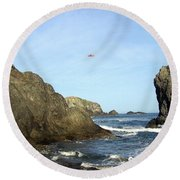 Bandon 28 Round Beach Towel by Will Borden