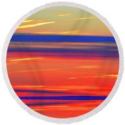Bands Of Colour Five  Round Beach Towel