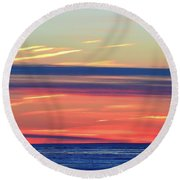 Bands Of Colour Two  Round Beach Towel