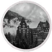 Banff Fairmont Springs Hotel Round Beach Towel