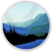 Banff Jasper Blue Round Beach Towel