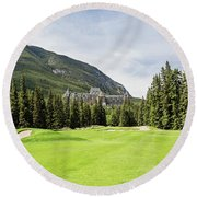 Banff Springs Golf And The Castle Round Beach Towel