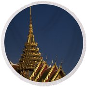 Bangkok Grand Palace Round Beach Towel by Travel Pics