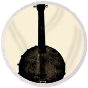 Banjo Mandolin Round Beach Towel