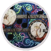 Banjos Round Beach Towel