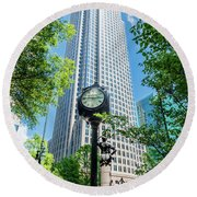 Bank Of America Corporate Center In Charlotte, Nc Round Beach Towel