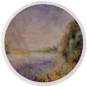 Banks Of The River 1876 Round Beach Towel
