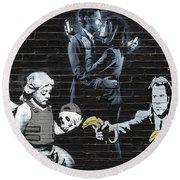 Banksy - Failure To Communicate Round Beach Towel