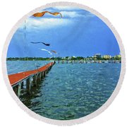 Banners Flying Round Beach Towel