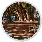 Banyans - Marie Selby Botanical Gardens Round Beach Towel