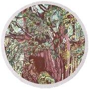 Baoba In Foliage Round Beach Towel