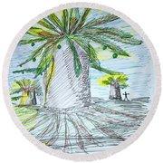 Baobab Grove Round Beach Towel