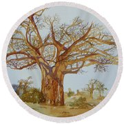 Baobab Tree Of Africa Round Beach Towel