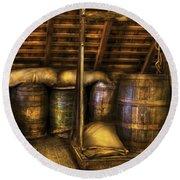 Bar - Wine Barrels Round Beach Towel