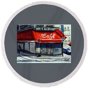 Bar Les 3 Quartiers Round Beach Towel