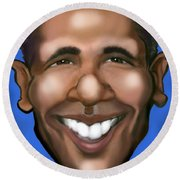 Barack Obama Round Beach Towel