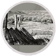 Fenceline Round Beach Towel
