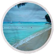 Barbados Round Beach Towel