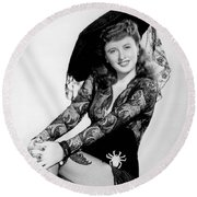 Barbara Stanwyck Round Beach Towel