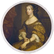 Barbara Villiers, Duchess Of Cleveland Round Beach Towel