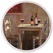 Barbaresco Round Beach Towel