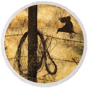 Barbed Landing Round Beach Towel