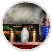 Barber - Things You Stare At  Round Beach Towel