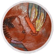 Barber Day - Tile Round Beach Towel