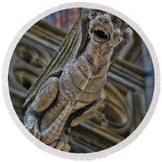 Barcelona Dragon Gargoyle Round Beach Towel