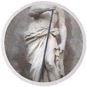 Barcelona - Neptune Statue Round Beach Towel