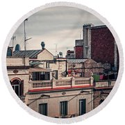 Barcelona Roofscape Round Beach Towel